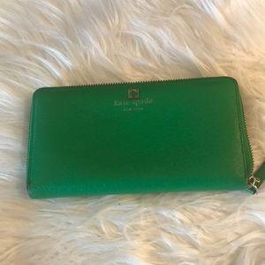 Kate Spade Kelly green wallet.